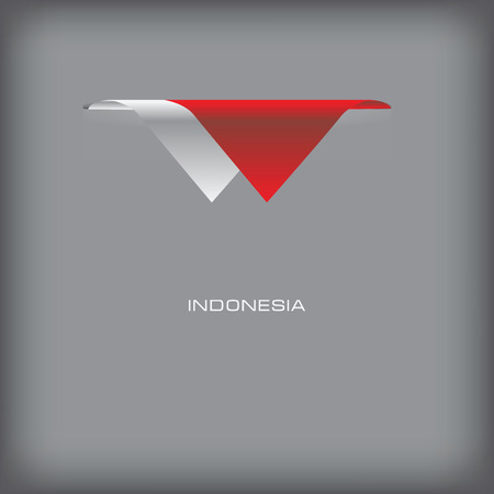 token: State symbols and colors of the flag of Indonesiai. Vector illustration.