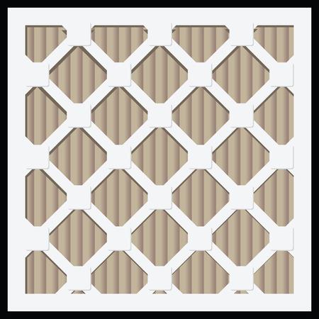 Industriële luchtfilters voor huishoudelijk en industrieel gebruik. Vector illustratie. Stock Illustratie