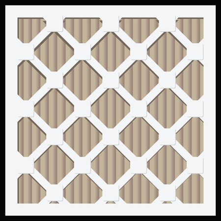 the air: Industrial air filters for domestic and industrial use. Vector illustration.