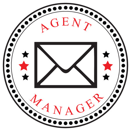 Creative symbol for the Agent or Manager, mailings. Vector illustration. Çizim
