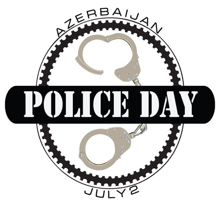 Police Day in Azerbaijan on July 2nd. Vector illustration.