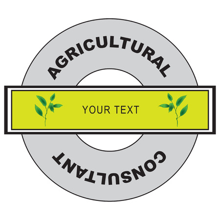 agronomist: Circular symbol for agricultural consultant. Vector illustration. Illustration