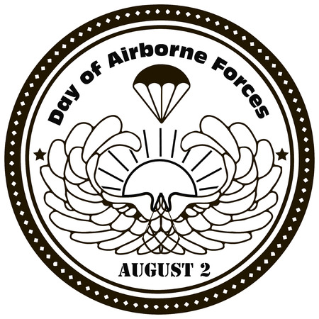 airborne: Day of Airborne Forces - August 2nd. Vector illustration.