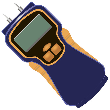 Digital LCD control of moisture content. Vector illustration.