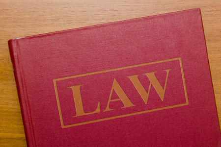 Law book of laws for the judicial legal system. Reklamní fotografie - 41982914