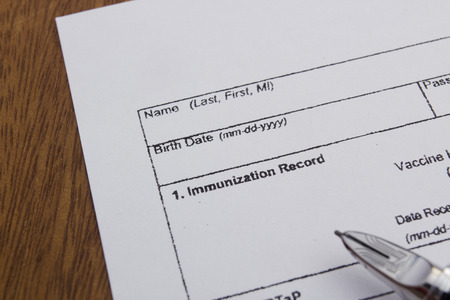 inoculate: Vaccination Documentation sheet for filling in the performance of vaccination.