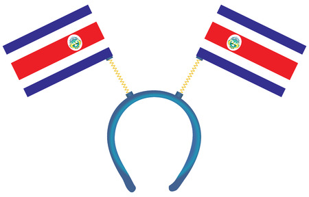 witty: Witty headdress with flags Costa Rica. Vector illustration.