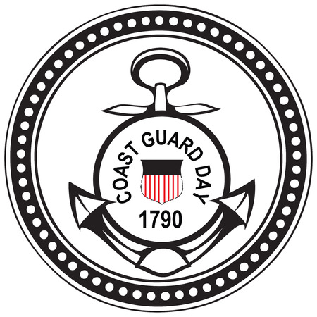 Coast Guards Day in the United States. Vector illustration.