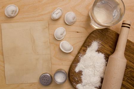 unleavened: Unleavened dough ingredients: flour, water and salt.