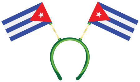 witty: Witty headdress with flags Cuba. Vector illustration. Illustration