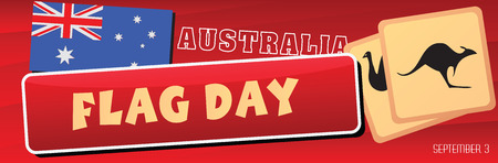 Australia Flag Day - the national holiday of the country. Vector illustration.