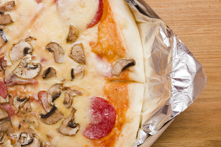 pizza base: Background of the food base for mushroom pizza toppings.