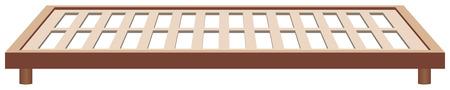 Rahmen Bettrahmen Holz, klassischen Stil. Standard-Bild - 43939743
