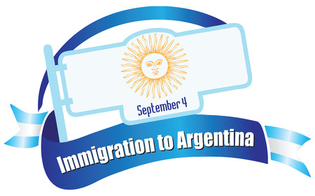 Banner for the holiday Immigration in Argentina. Vector illustration. Illustration