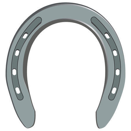 Classical steel horseshoe for horses. Vector illustration.