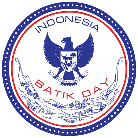 national holiday: Batik Day - a national holiday in Indonesia on October 2. Vector illustration. Illustration