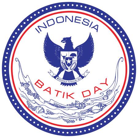 Batik Day - a national holiday in Indonesia on October 2. Vector illustration. Illustration