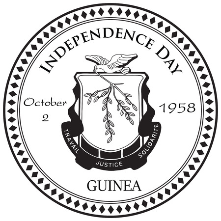 Guinea Independence Day - a date stamp of October 2.