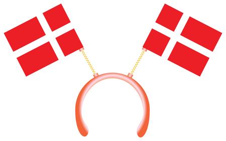 Witty headdress with flags Denmark.