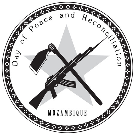 Day of Peace and Reconciliation. Mozambique. Vector illustration.