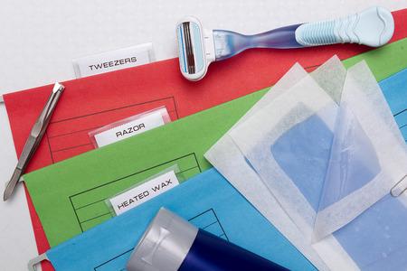 revitalizing: Folders options depilation with tweezers or a razor machine or heated wax.