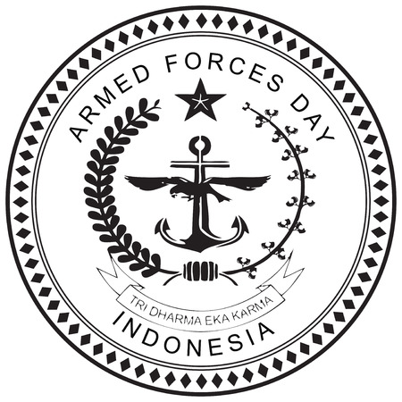 Indonesia, Armed Forces Day, a national holiday. Vector illustration.