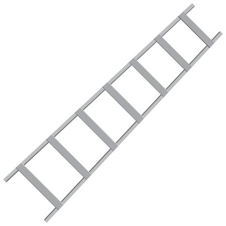 Metal ladder for industrial work. Vector illustration. Ilustracja