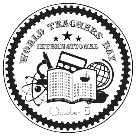 October 5, World Teachers Day International. Vector illustration.