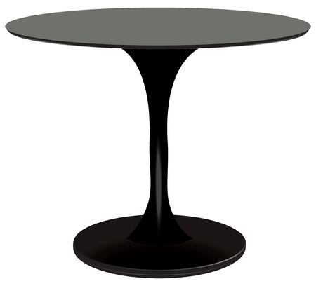 Round table black, creative designer. Illustration