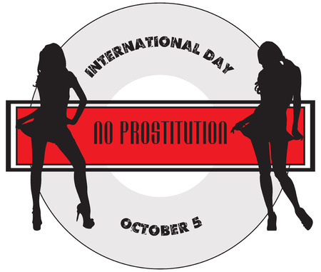 prostitution: Sticker to, International Day of No Prostitution.