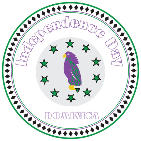 The circular symbol of Independence Day, Dominica.