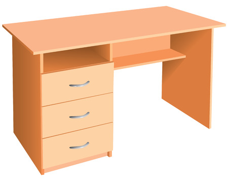 wooden work: Office version of the table with drawers.
