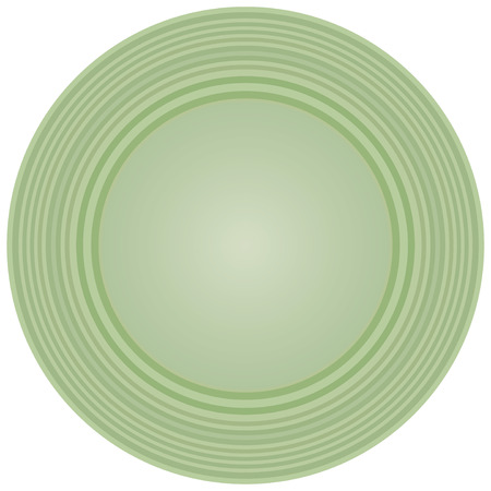 ceramic: An empty ceramic plate, used for salads.