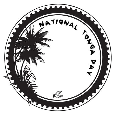 Stamp imprint to the national holiday - National Tonga Day Illusztráció