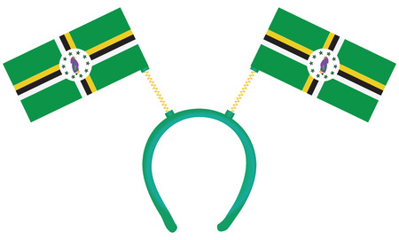 witty: Witty headdress with flags Dominica.