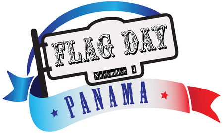 State Flag Day Panama - Banner in the combination of colors and symbols of the flag in Panama.