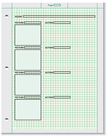 storyboard: Blank film storyboard based on the script. Vector illustration. Illustration