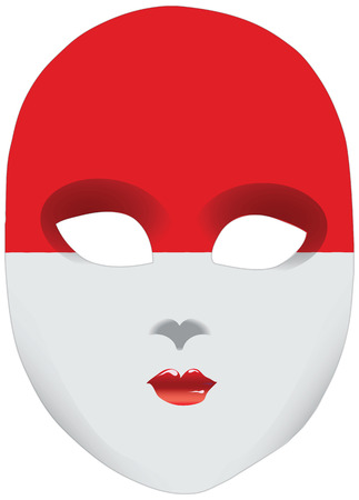 statehood: Classic mask with symbols of statehood of Indonesia. Vector illustration