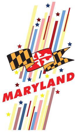 advertise with us: Creative banner with the symbol of the State of Maryland. Vector illustration.