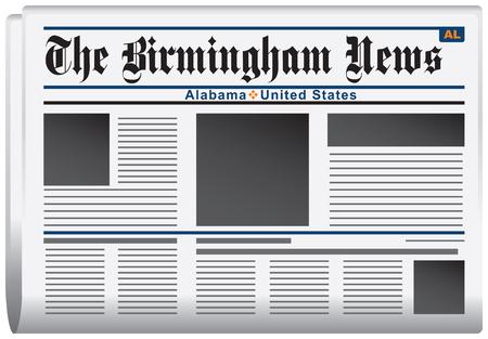 journalism: Newspaper News of Alabama, The Birmingham News. Vector illustration.