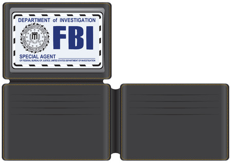 special agent: Wallet FBI Special Agent, with space for credit cards and plastic cover for identification.