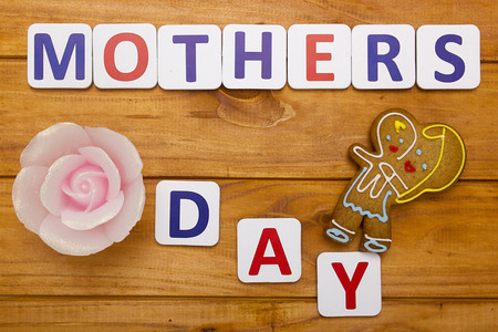 holiday picture: Mothers Day, creative picture made for the holiday with shaped cookies.