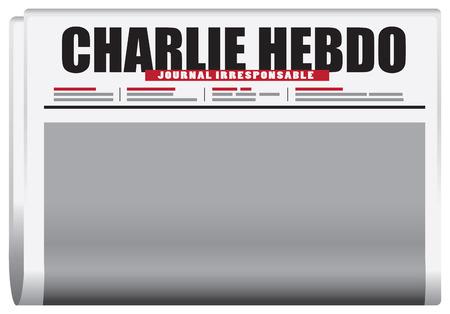 charlie: Symbolic edition of Charlie Hebdo. Vector illustration.