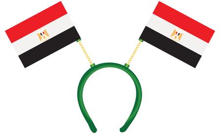 Headdress with a flag of Egypt for holiday. Vector. 向量圖像