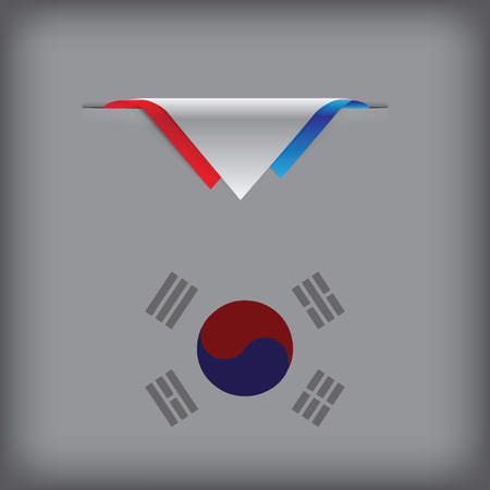 South Korea - a banner with the elements of the flag.