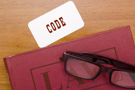 Legal Code - the basis of law. Book of the Law.