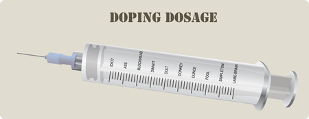 squirt: Injections of doping with an appropriate grading of the syringe.