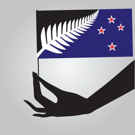 New Zealand symbol of statehood - a flag. Vector illustration. Ilustracja