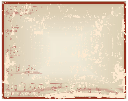 blank space: Vintage sheet with notes and blank space for the designer.