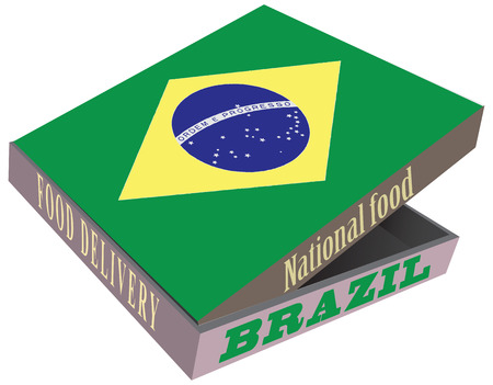 smolder: National Foods Brazil in the box to deliver food.